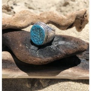 Jewelry - Solid Sterling Silver Tibetan Medicine Ring